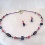 Amethyst Multi Necklace with Earrings