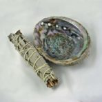 Abalone Shell with Smudge Stick