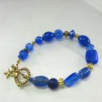 Royal Blue Multi-Bead Bracelet